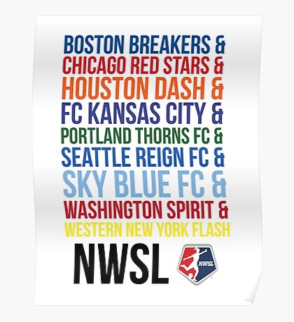 National Women's Soccer League Teams Poster
