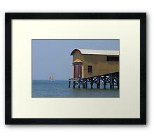 'Lone sailor' Framed Print