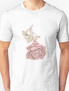 Dried Single Pink Rose T-Shirt