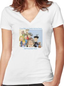 Dysfunctional Family Women's Fitted V-Neck T-Shirt
