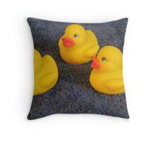 Baby Rubber Ducks Throw Pillow