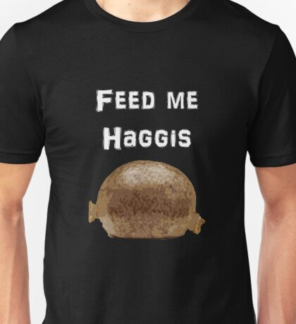 Iskybibblle Products / Feed me Haggis/White Unisex T-Shirt