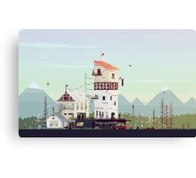 Celebration: Retro Pixel Art  Canvas Print