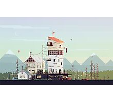 Celebration: Retro Pixel Art  Photographic Print