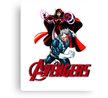 Avenger Twins - Scarlet Witch and Quicksilver Canvas Print