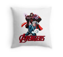 Avenger Twins - Scarlet Witch and Quicksilver Throw Pillow