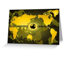 Abstraction with globe Greeting Card