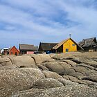 Houses on the rocks at Punta Diabolo, Uruguay by Grant Forbes