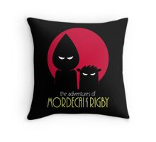 The Adventures of Mordecai & Rigby Throw Pillow