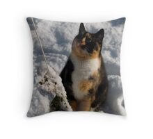 Cally's Getting a Cold Bum Throw Pillow
