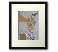 Outback Web of Flies Framed Print