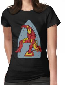 Ironing Man Womens Fitted T-Shirt