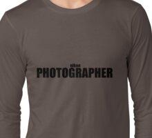 Nikon Photographer (Black) Long Sleeve T-Shirt