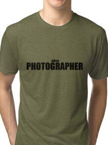 Nikon Photographer (Black) Tri-blend T-Shirt