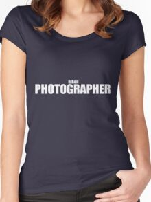 Nikon Photographer (White) Women's Fitted Scoop T-Shirt