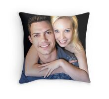Michael Jnr and Brooke Portrait Throw Pillow