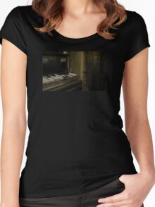 Butterfly on the Piano Women's Fitted Scoop T-Shirt