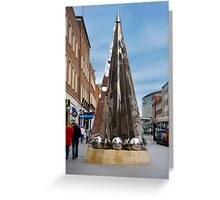 Exeter City Centre #4 Obelisk of Riddles Greeting Card