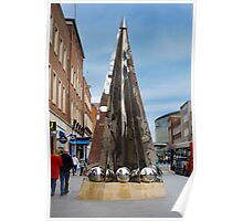 Exeter City Centre #4 Obelisk of Riddles Poster