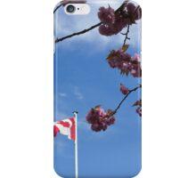 Patriotic cherry blossoms  iPhone Case/Skin