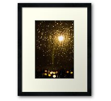 Rainy night in Vancouver (vertical)  Framed Print