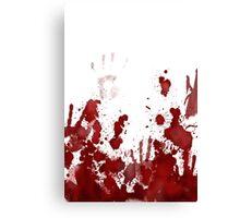 blood splatter Canvas Print