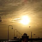 Golden sunset St Kilda Pier by DianneLac
