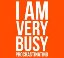 I am very busy (procrastinating) - White Kids Tee