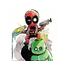 Deadpool - Hulk baby by ickhwano