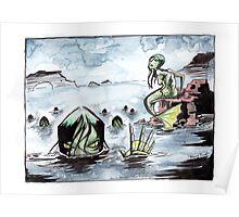 Creepy Mermaids Poster
