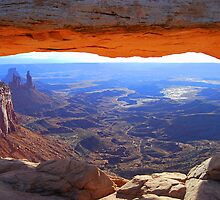 Mesa Arch in Canyonlands National Park, Utah, at Sunrise. by Catherine Sherman