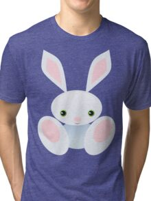 Little Blue Baby Bunny - The Wisley Tri-blend T-Shirt