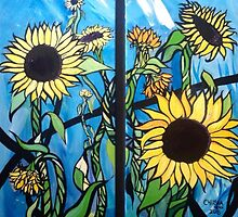 """""""Sunflowers"""" by Chelsea Horn by ChelseaHorn"""