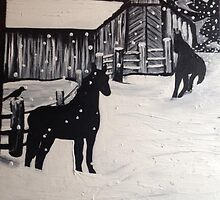 """""""Neighbors in the Snow"""" by Chelsea Horn by ChelseaHorn"""
