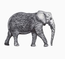 Elephant Realism One Piece - Long Sleeve