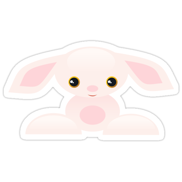 Little Pink Baby Bunny - The Shy by ruxique