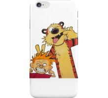 calvin and hobbes yucks iPhone Case/Skin