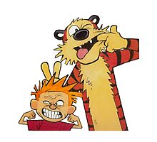 calvin and hobbes yucks Photographic Print