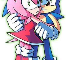 Sonic and Amy Rose (Sonamy) by Kajitanii