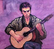The Flamenco Guitarist by Roz McQuillan