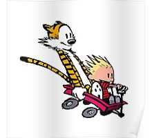 calvin and hobbes speed Poster