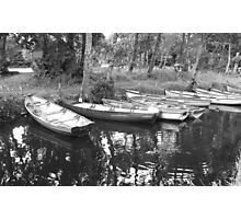 boats at ross castle killarney  Photographic Print