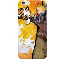 sleeping calvin and hobbes iPhone Case/Skin