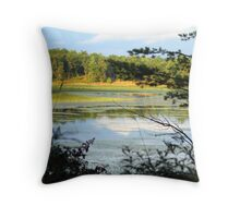 lake in the trees Throw Pillow