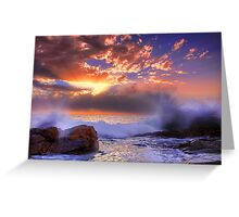 Hallett Cove Sunset Splash Greeting Card
