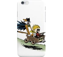 Calvin and Hobbes cosplaying iPhone Case/Skin