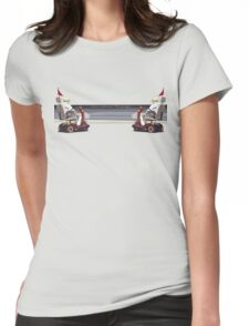 Swim between the flags Womens Fitted T-Shirt