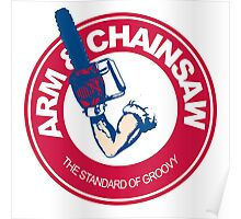 Arm & Chainsaw Poster