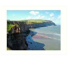 Boulby Cliffs Art Print