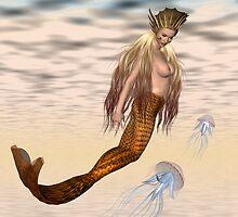 Leona .. a mermaid by LoneAngel